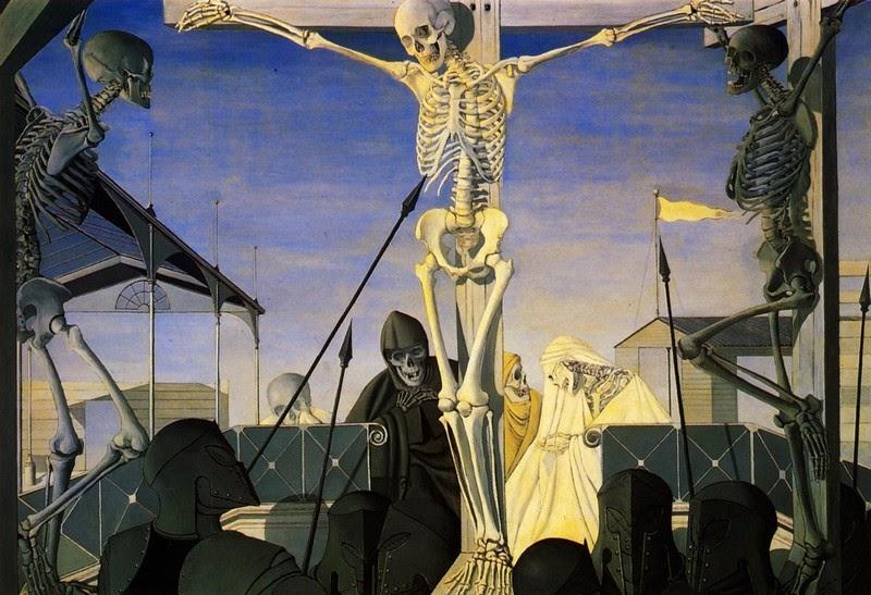 Paul Delvaux - Crucifixion, 1952