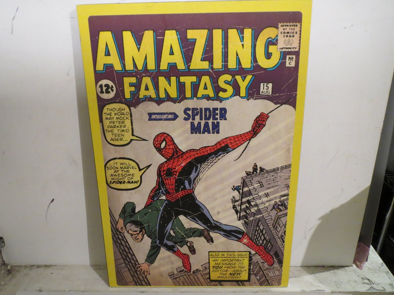Amazing Fantasy (Introducing Spider Man) Poster