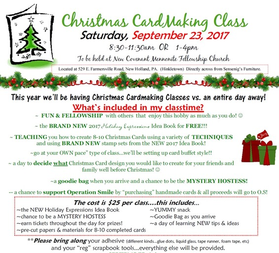 2017-9-23 Christmas Card Class details - flyer