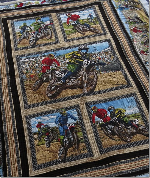 Sweet Peas Jaxon Motorbike quilt two 27Sept