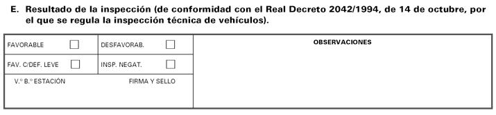 Parte 5 Modelo de informe de inspección técnica de vehículos