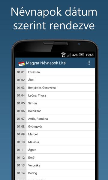 Magyar Névnapok lite- screenshot