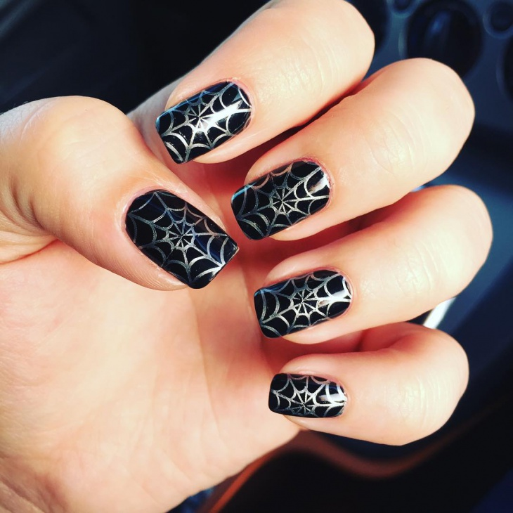 spider and spider web nail art 2017 - style you 7