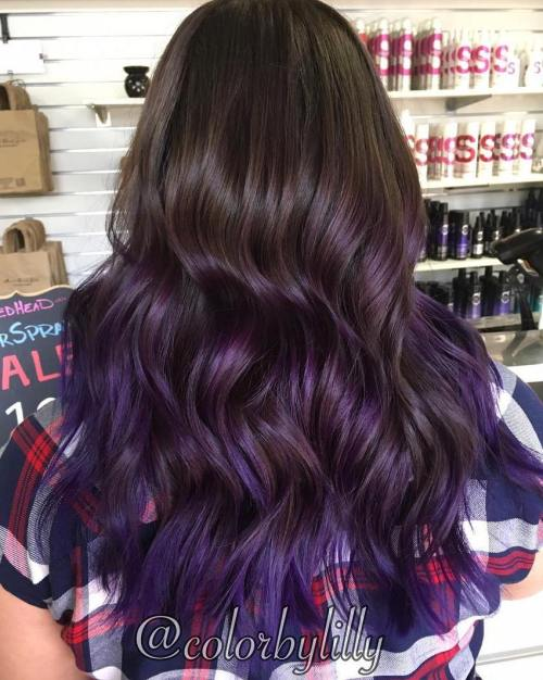 Plum hair color a beautiful contrast for woman 2018 4