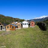 Cemitério na estrada ao Glaciar Exploradores, Puerto Rio Tranquilo, Chile