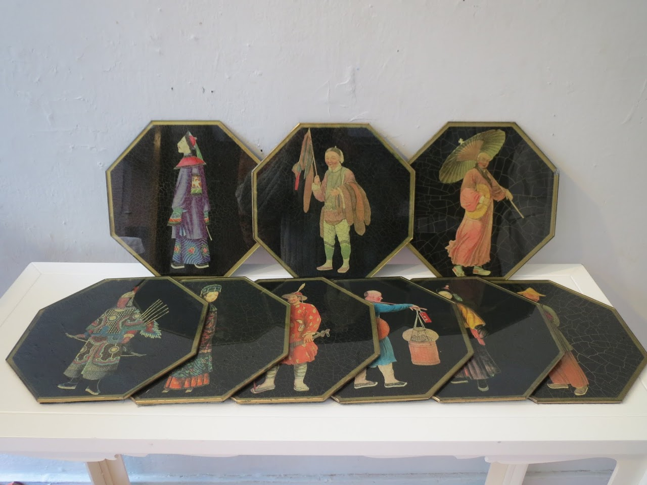 Japanese-Inspired Decoupage Charger Lot