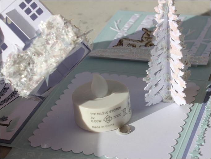 Explosion Box Stampin Up Weihnachten Winterwald Rehe Schnee Schneeflocke 05