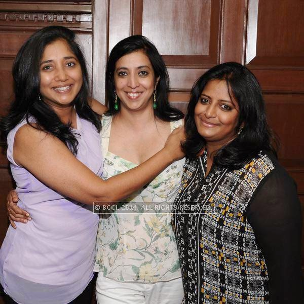 Sudha, Neeta and Sai pose for the lens during a Ladies Night party, held at 10 Downing Street.