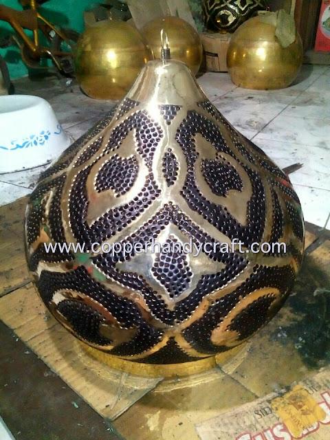 lampu maroko tembaga