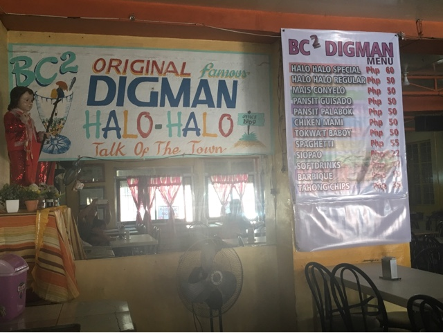 Digman Halo Halo Menu and Price