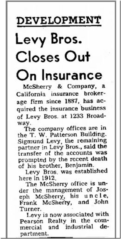 Levy Bros firm closes Apr 4 1965 Fresno Bee Republican