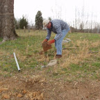 George works on his great-great-grandfather's grave