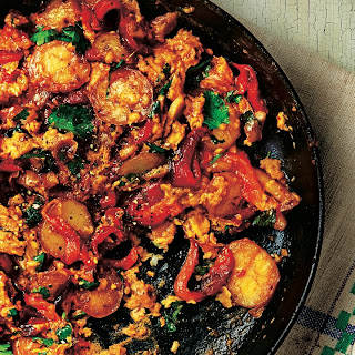Scrambled Eggs With Spice-studded Rice