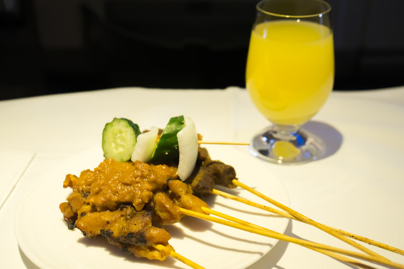 Malaysia airline, dinning, business class 2