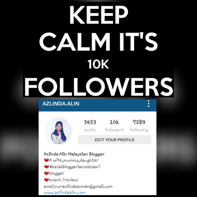 10K Instagram Followers Azlinda Alin