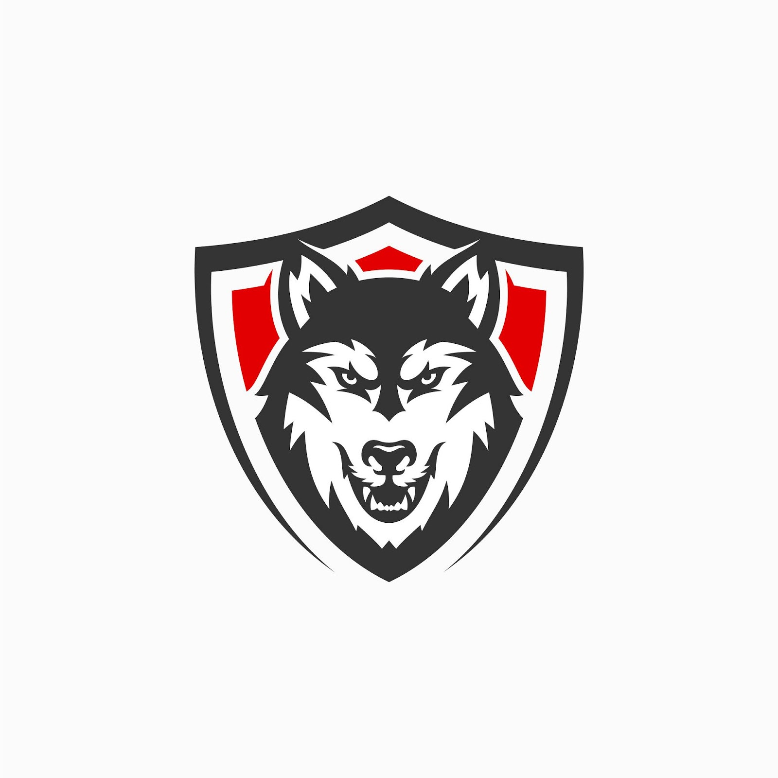 Angry Wolf Mascot Logo Free Download Vector CDR, AI, EPS and PNG Formats