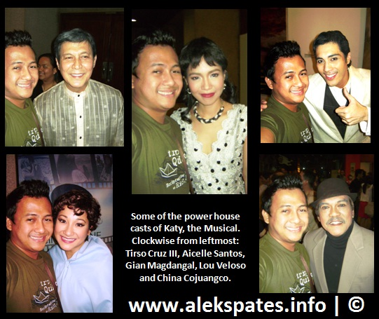 Congressional Spouses Foundation, Cultural Center of the Philippines, Dulce, Epy Quizon, Gian Magdangal, Isay Alvarez, Isay Alvarez-Seña, January 17-27, January 17-27 2013, Joey Reyes, Jose Javier Reyes, Katy, Katy The Filipino Musical, Katy The Musical, Little Theatre, Lou Veloso, Mr. C, Mr. Ryan Cayabyab, Nestor Torre, Ryan Cayabyab, Spotlight Artist Centre, Tanghalang Aurelio Tolentino, Tanghalang Aurelio Tolentino (Little Theatre), Tanghalang Aurelio Tolentino (Little Theatre) Cultural Center of the Philippines, Tirso Cruz III, Tricia Jimenez