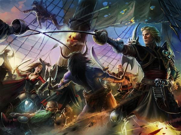 Pirates In Battle, Battle