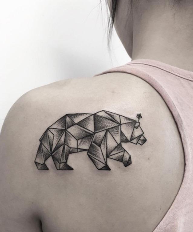 Este geométricas urso