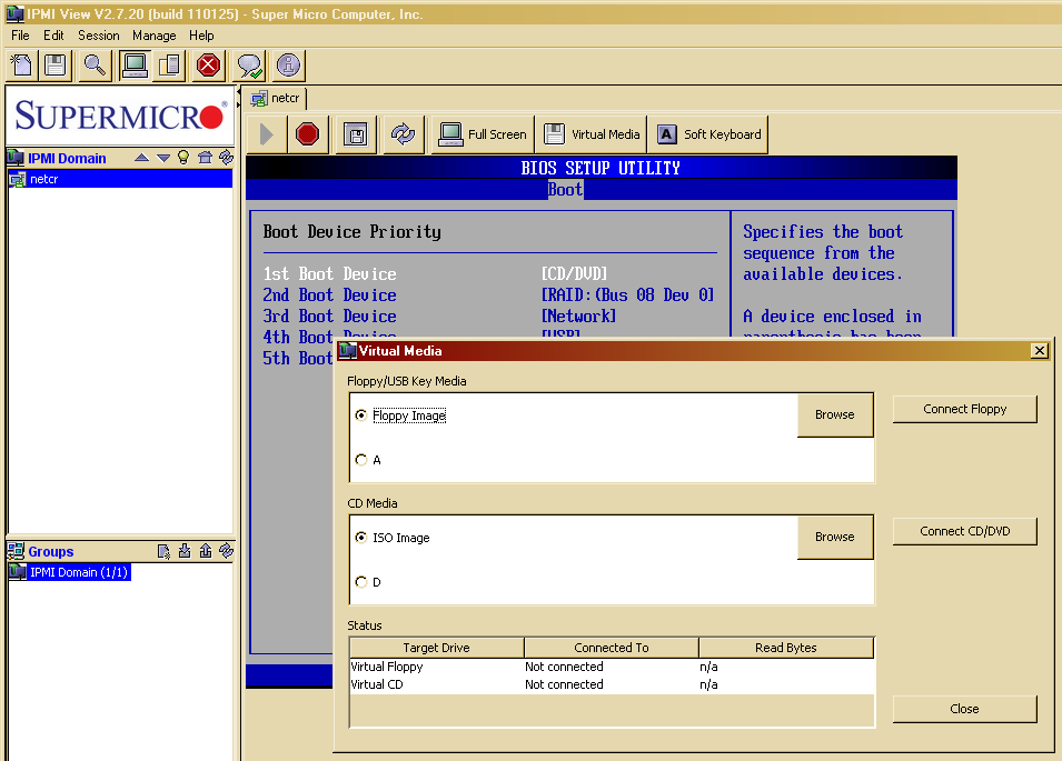 True System: IPMI, KVM-over-LAN, virtual media в серверах