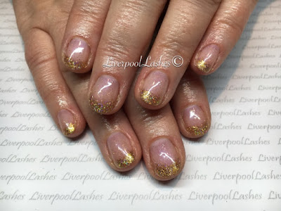 liverpoollashes liverpool lashes cnd shellac beau lecente glimente fierce glitter elegant gold nails blogger
