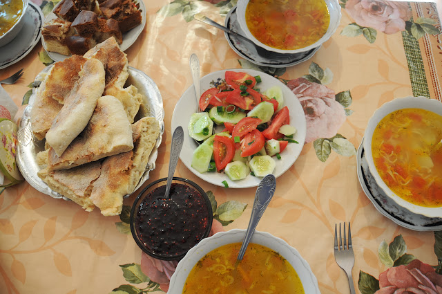 food in svaneti , georgia