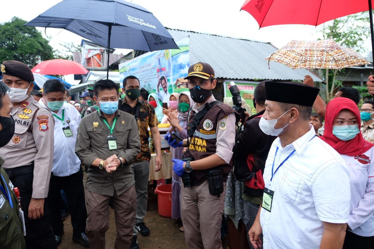 Menteri Pertani SYL Tinjau Progam P2L di Desa Borong Pa'la'la Gowa