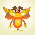 Cartoon Funny Monster Free Download Vector CDR, AI, EPS and PNG Formats