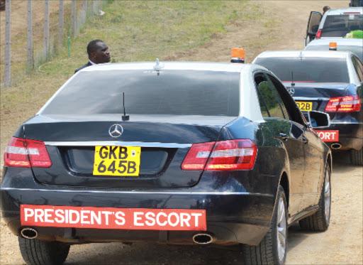 The presidential escort cars./FILE