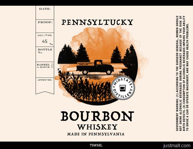 Midstate Distillery Pennsyltucky Bourbon