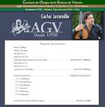 Programa del Concierto de Carlos Jaramillo, en Amigos de la Guitarra de Valencia
