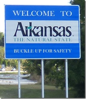 Arkansas Border Sign