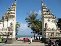 Kuta beach entrance - Bali