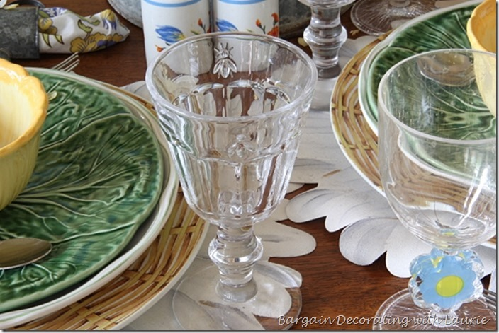 Spring Tablescape-Bargain Decorating with Laurie