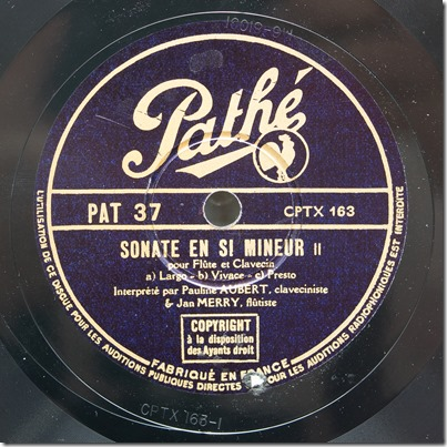Pathé PAT 37 [CPTX 163] label