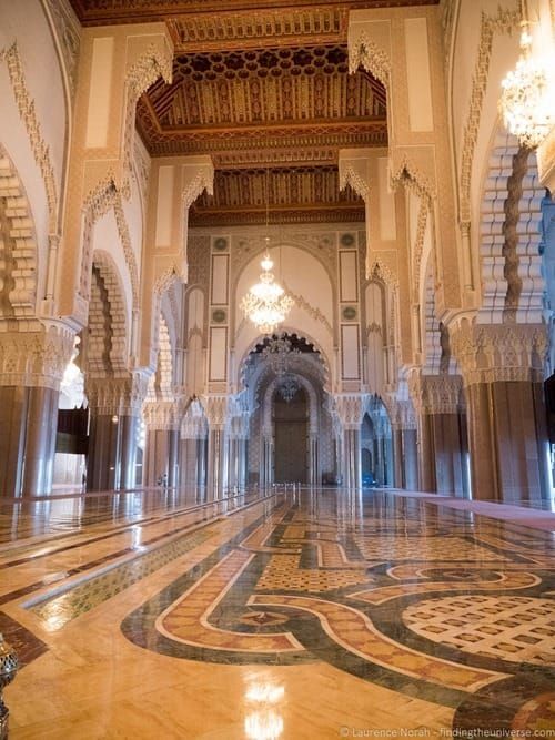 Interior of  Hassan II Mosque Casablanca Morocco