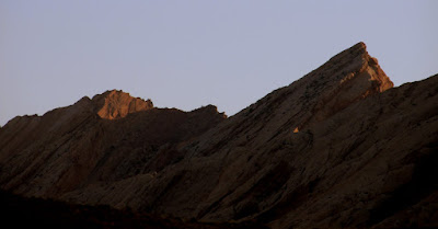 Last rays of sunlight on the San Rafael Reef