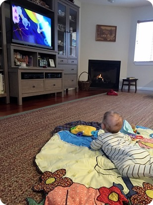 Henry watching Curious George
