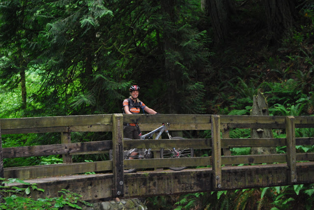 Biking along a bridge in Arroyo ParkCredit: Bellingham Whatcom County Tourism