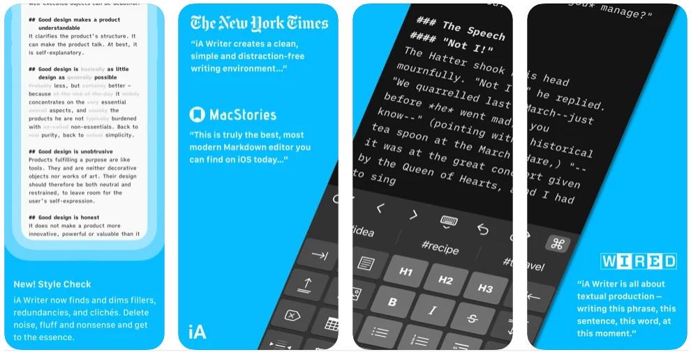 iA Writer- The Markdown Writing App