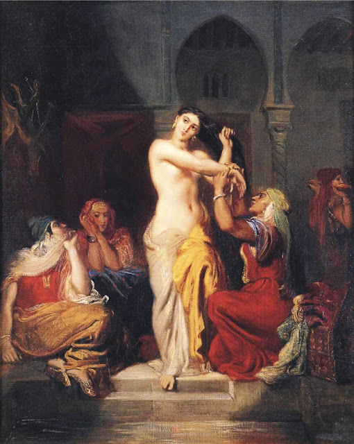 Théodore Chassériau - Moorish Woman Leaving the Bath in the Seraglio