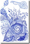 359 Zentangle Blue Pattern