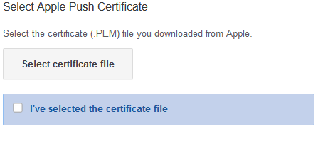Upload Apple Certificate on Google Admin
