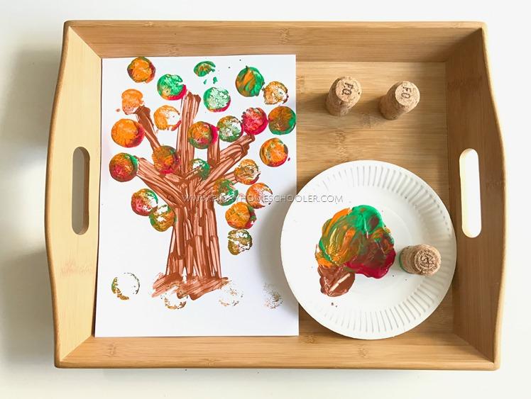 Autumn Themed Activity: Cork Painting