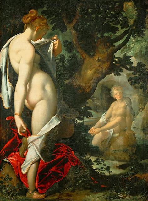 Bartholomeus Spranger - The Nymph Salmacis and Hermaphroditus