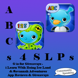 ABCs 4 SLPs: i Learn With Boing Ice Land Adventures and Savannah Adventures Reviews and Giveaways image
