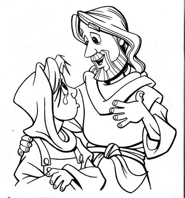 Jesús consolador para colorear