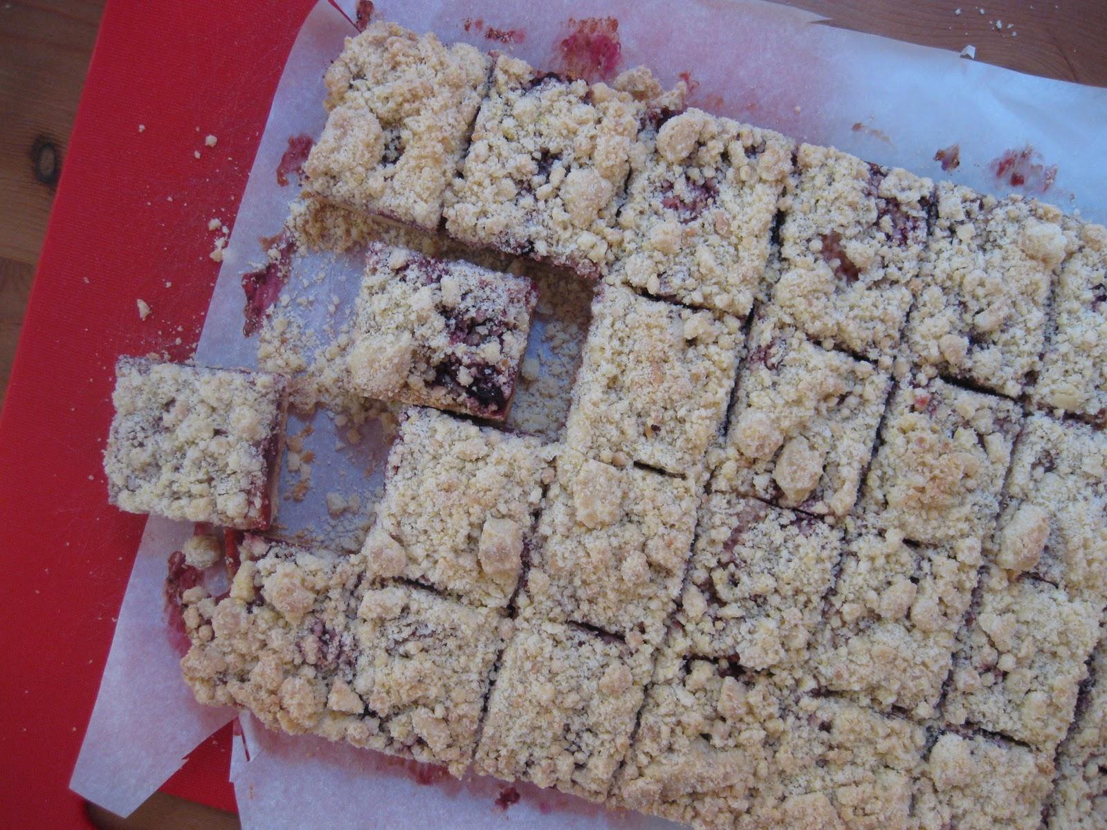 Sunday Treats: Berry Cornmeal Crumble Bars