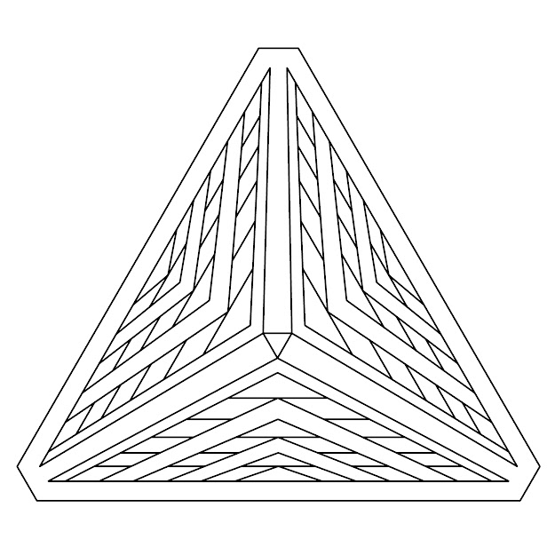 Geometry Coloring Page Pyramid