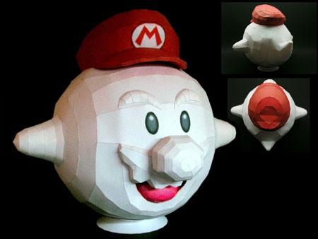 Super Mario Galaxy Papercraft Boo Mario